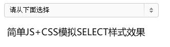 js+css实现模拟自定义select样式示意图