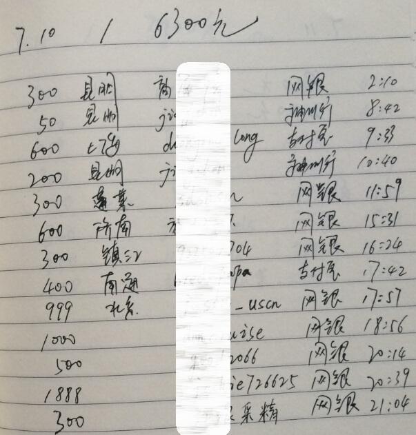 2011年7月10日收入截图