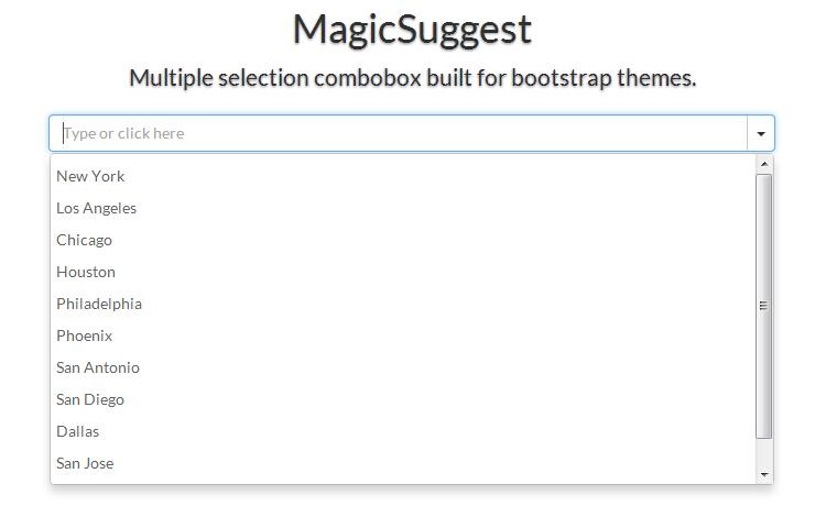 MagicSuggest Combobox 可输入可选下拉框示例