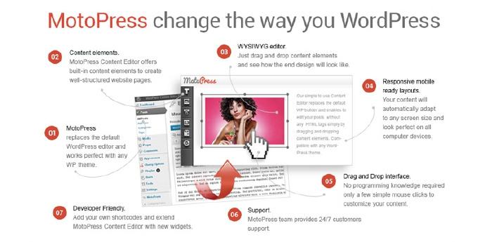 MotoPress 管理和编辑网站/博客的内容编辑器