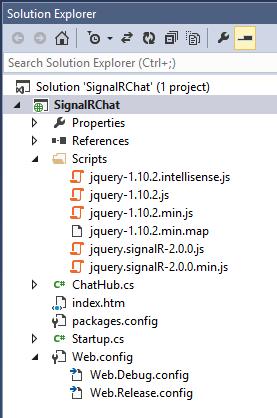 创建 SignalR ASP.NET MVC5 示例项目-4