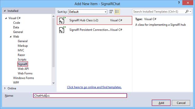 创建 SignalR ASP.NET MVC5 示例项目-5